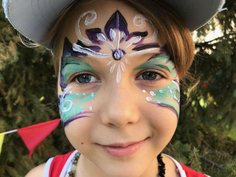 Аквагрим для девочки - Бабочка
