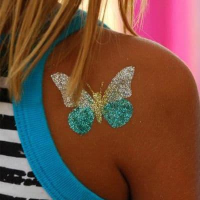 Разноцветные временные татуировки (Блеск тату)