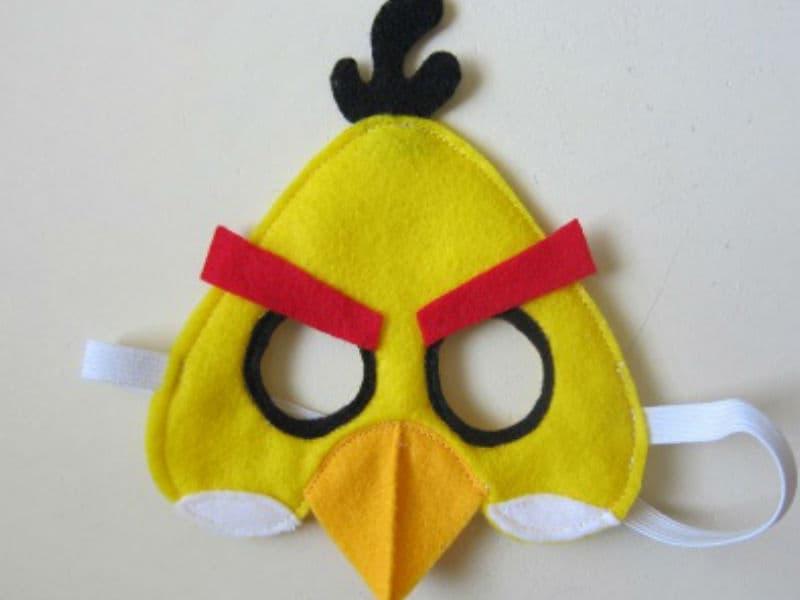 Маска ANGRY BIRDS из фетра