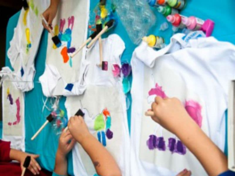 Мастер-класс по росписи футболок от ивент агентство